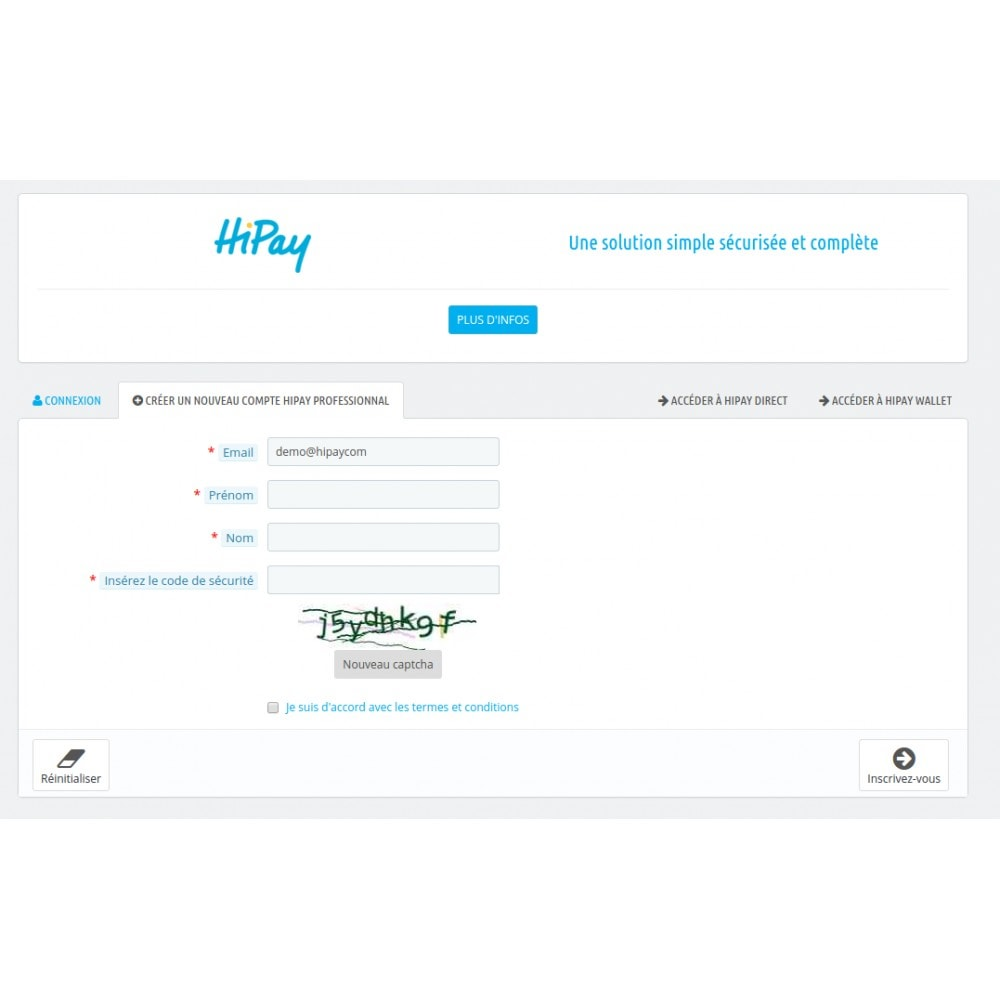 module - Płatność kartą lub Płatność Wallet - HiPay - 3