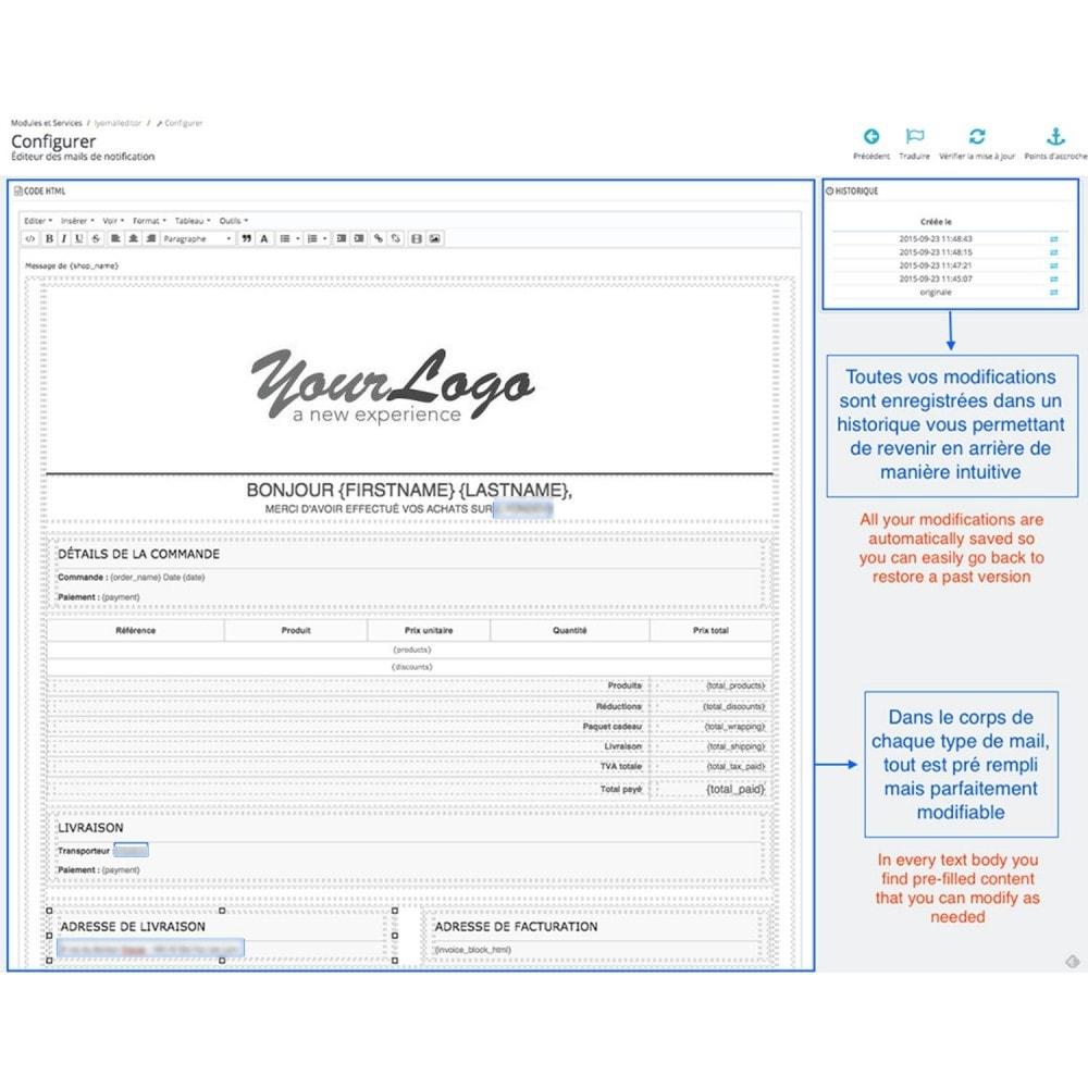 module - E-mails & Notifications - Editeur de mail personnalisé - 3