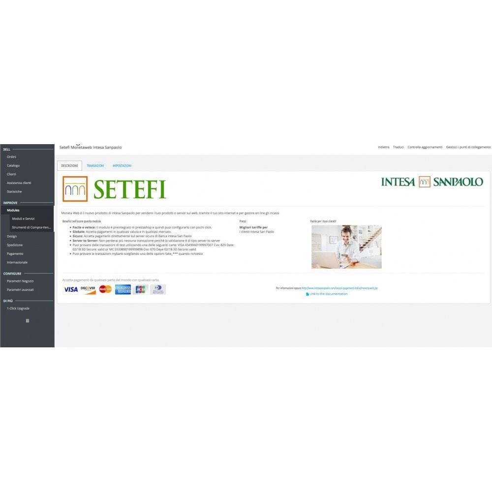 module - Pagamento con Carta di Credito o Wallet - Carte di Credito Intesa Sanpaolo Setefi Monetaweb - 7