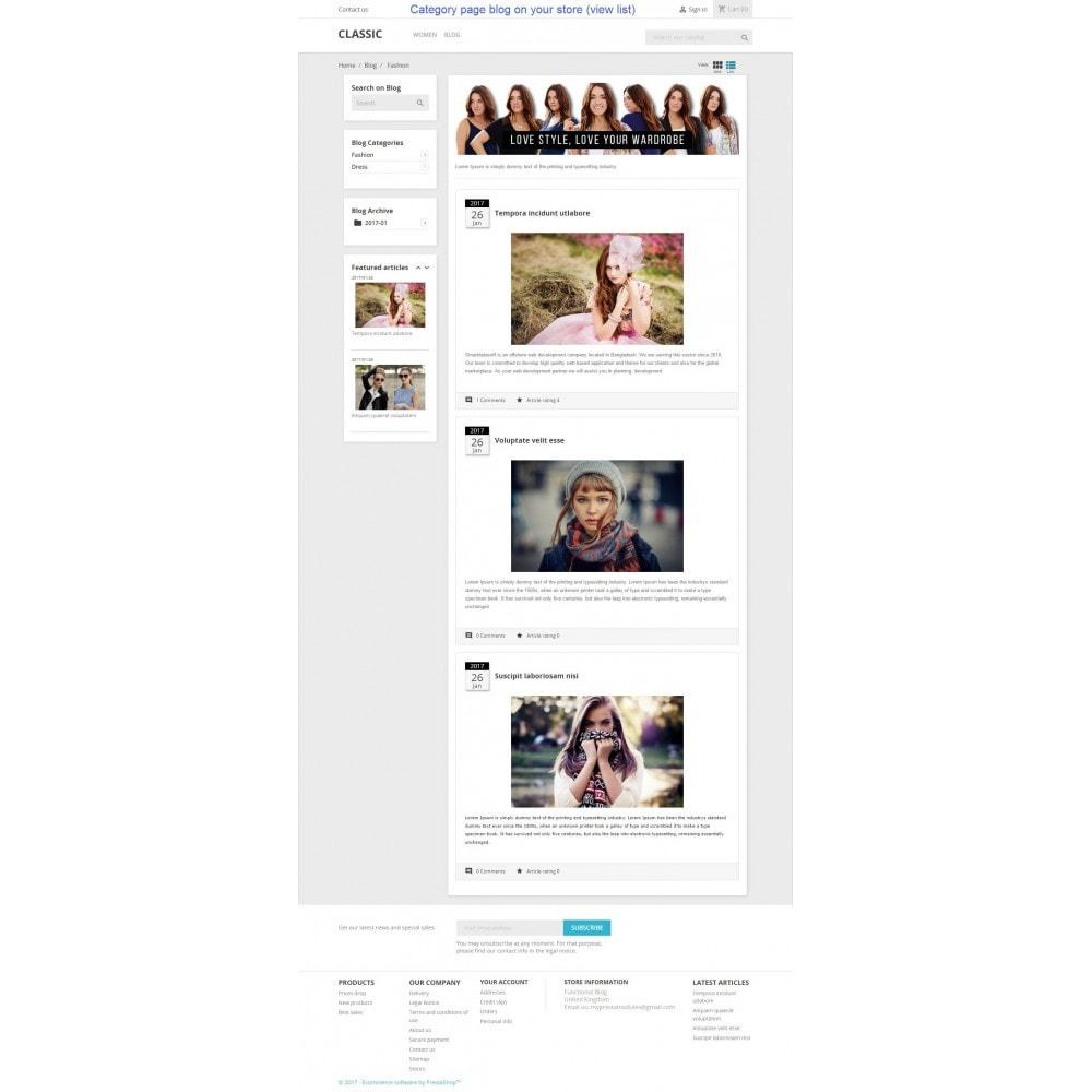 module - Blog, Forum & Actualités - Functional Blog - 3
