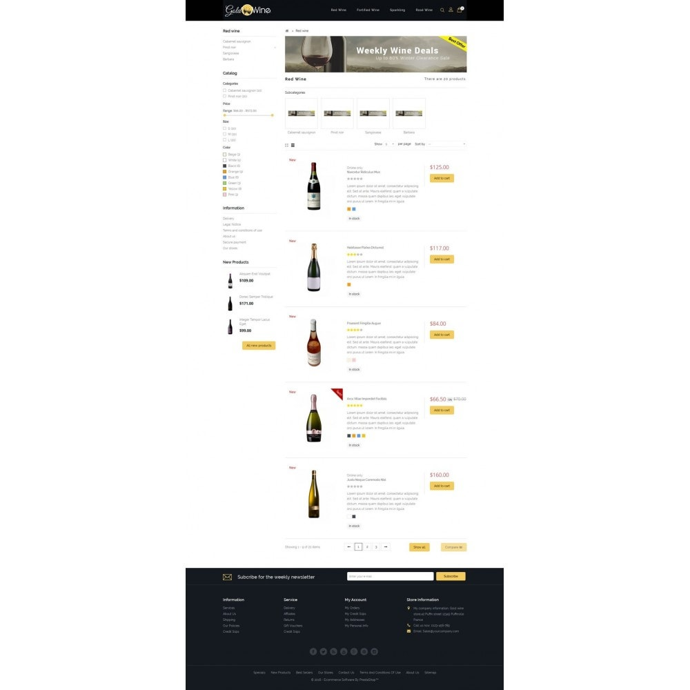 theme - Boissons & Tabac - Gold Wine Store - 4