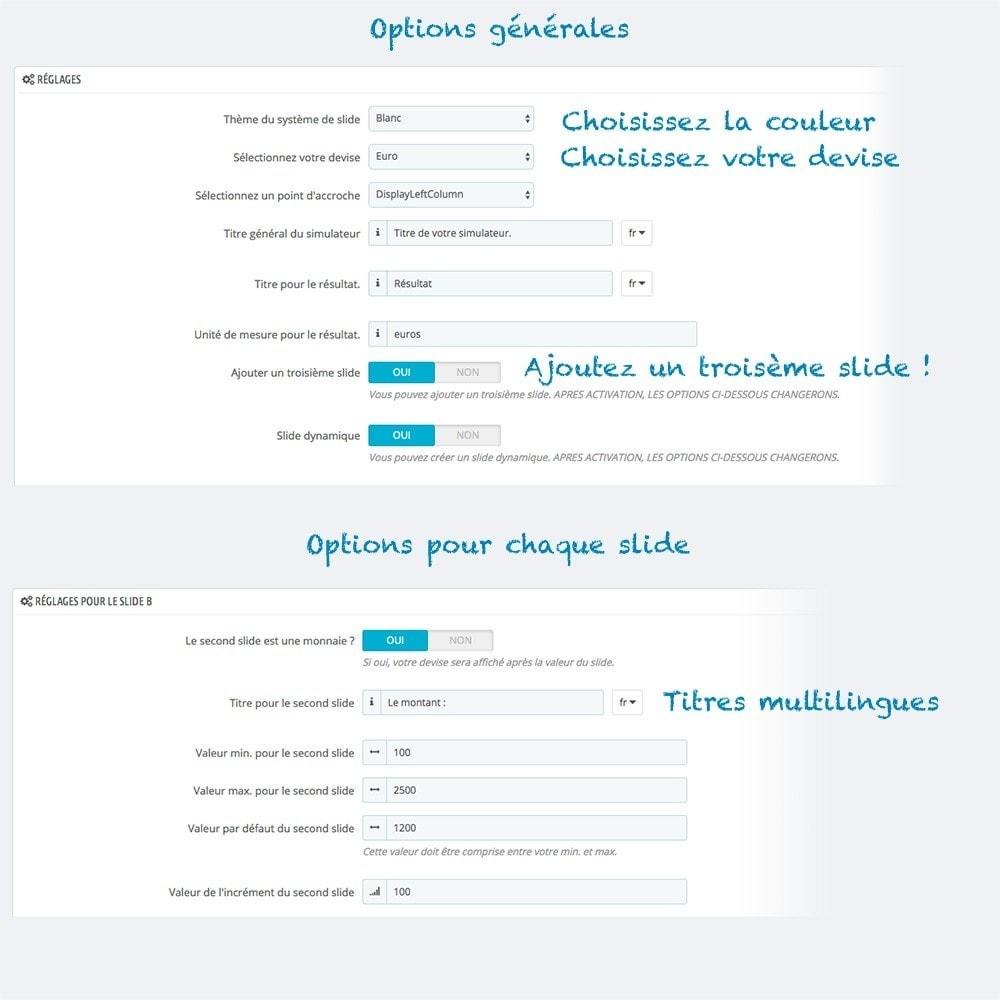 module - Gestion des Prix - Simulateur et simulation avec formule : coût, IMC... - 3