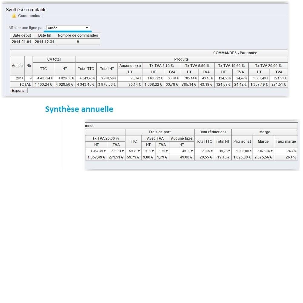 module - Comptabilité & Facturation - Synthèse comptable avec TVA - 8