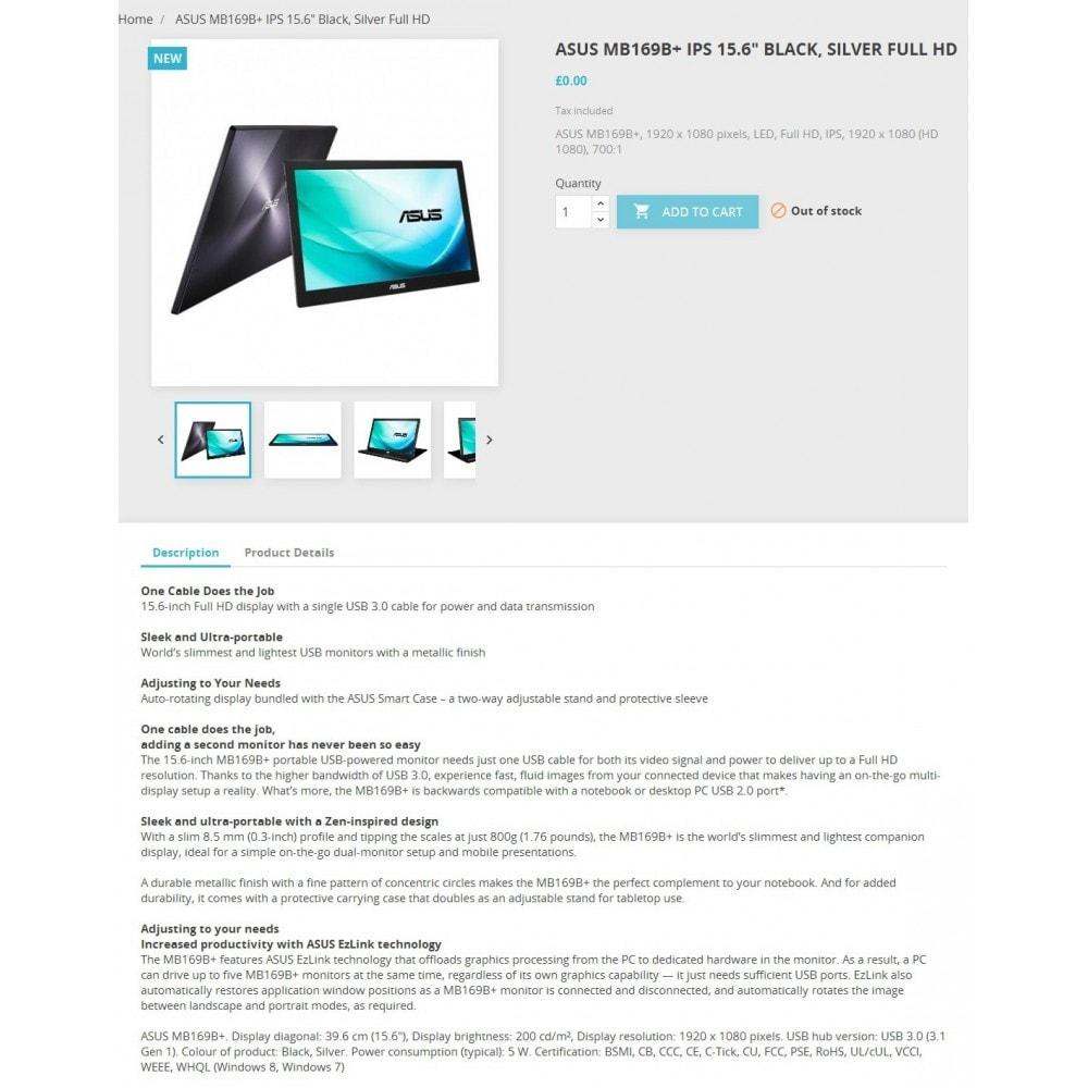 module - Дополнительной информации и вкладок товара - Icecat импорт - 1