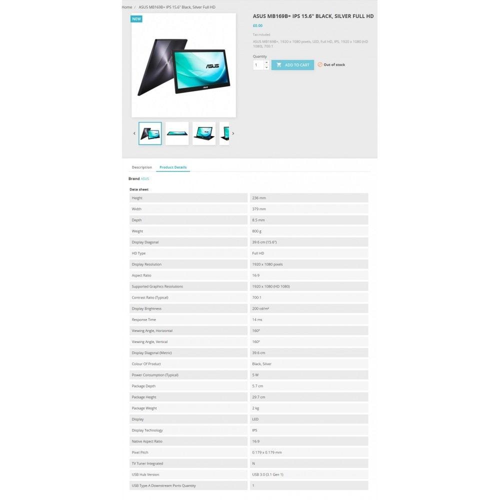 module - Дополнительной информации и вкладок товара - Icecat импорт - 2