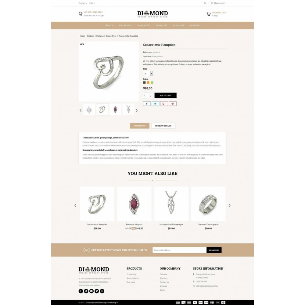 theme - Jewelry & Accessories - Diamond Jewelry Store - 5