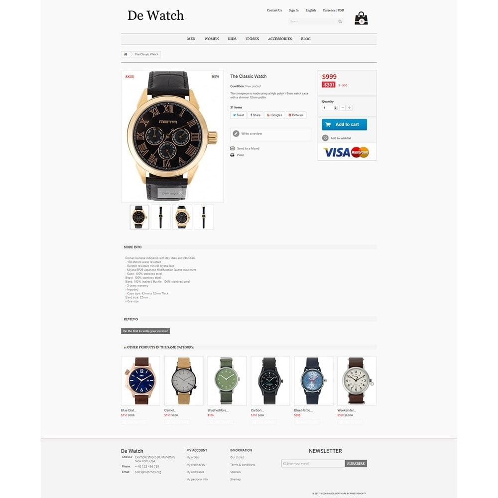 theme - Bellezza & Gioielli - De Watche - Watches and Accessories Store. - 4
