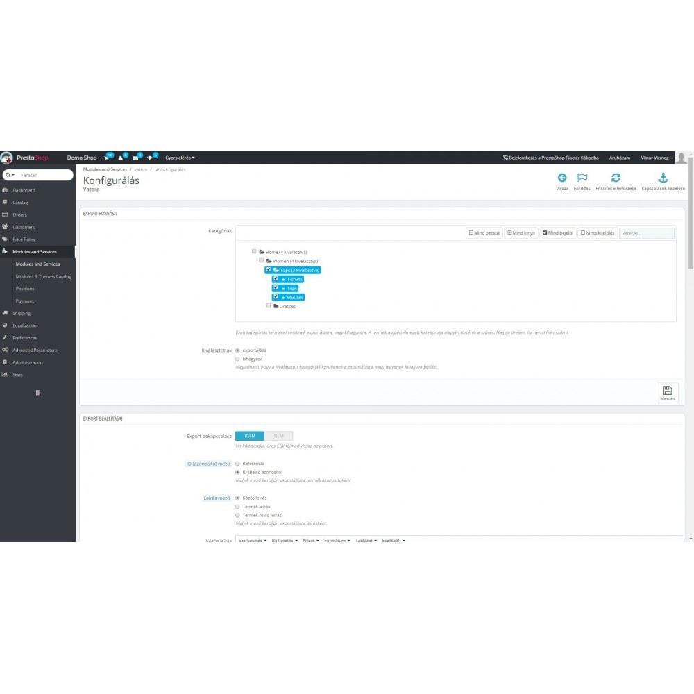 module - Importación y Exportación de datos - Vatera - 2