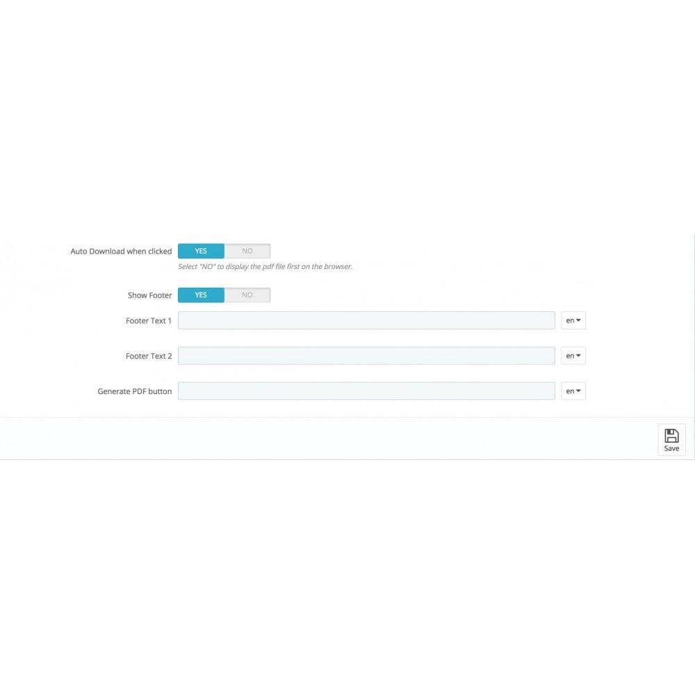 module - Import & Export de données - Fiche PDF pour produits - 5