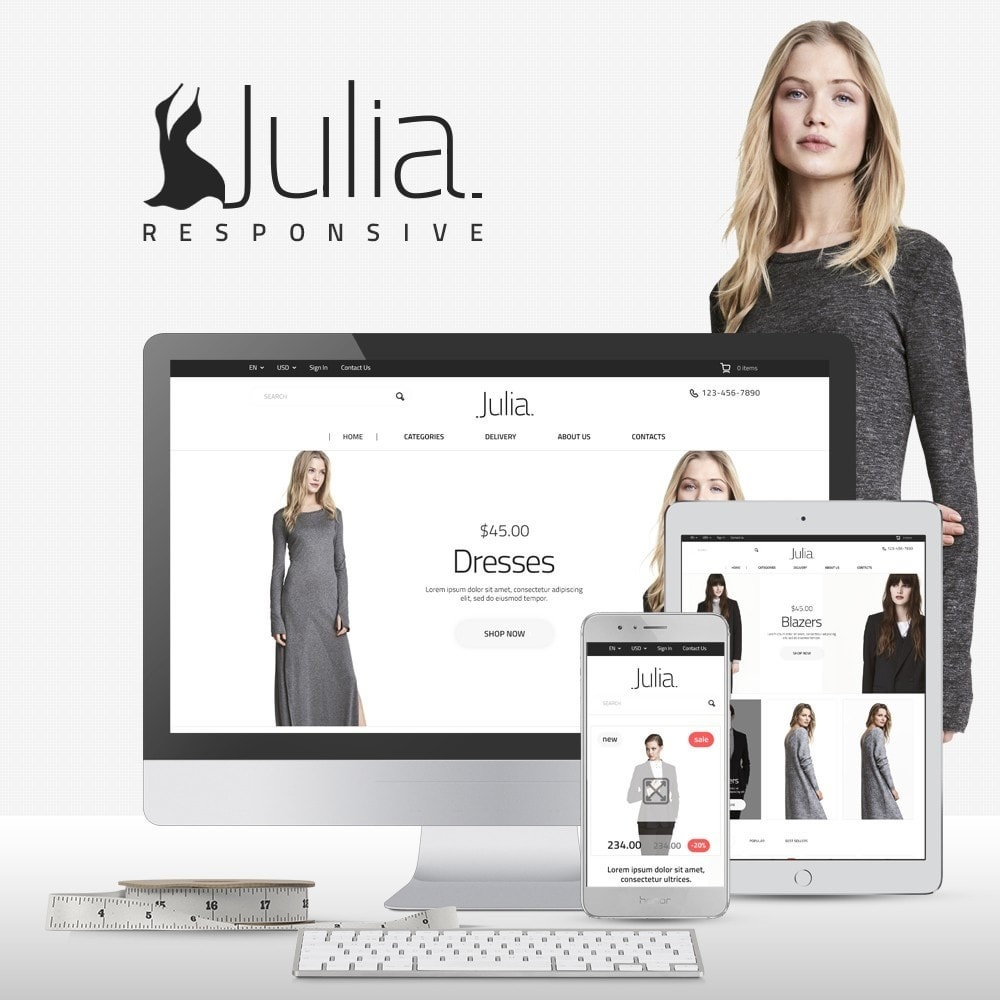 theme - Мода и обувь - Julia Fashion Store - 1