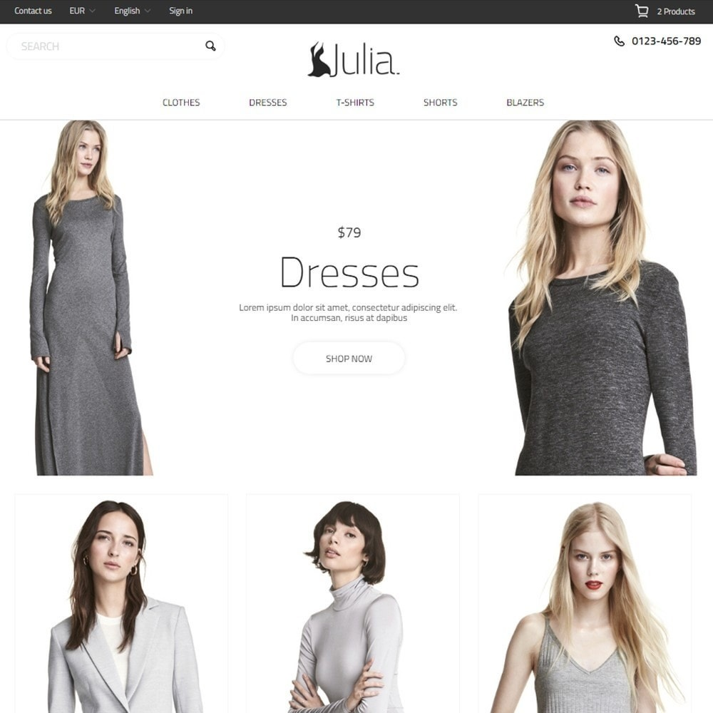 theme - Мода и обувь - Julia Fashion Store - 2