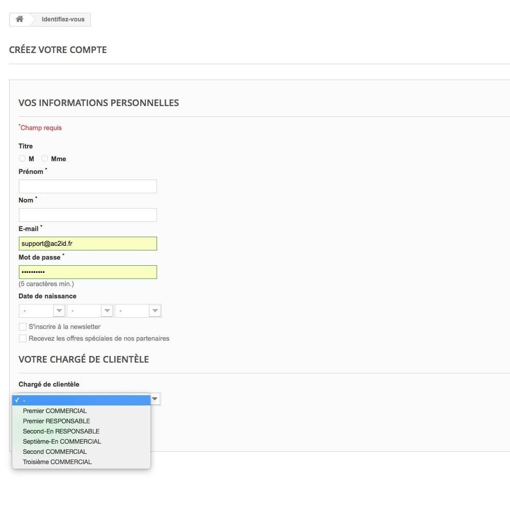 module - Outils d'administration - Chargé de clientèle - 25