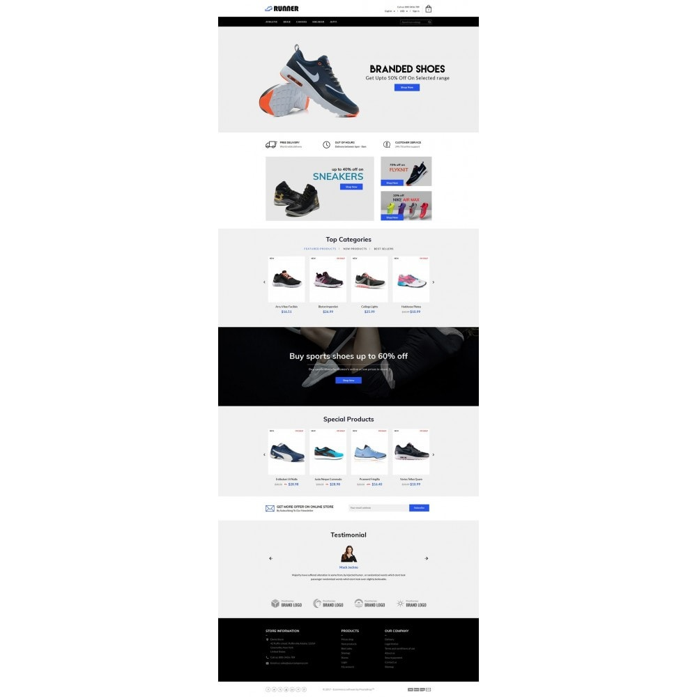 theme - Mode & Chaussures - Runner Shoes Store - 2