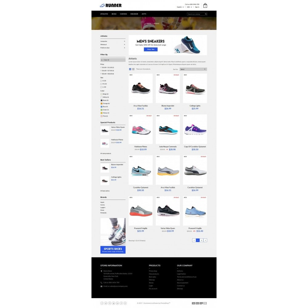 theme - Mode & Chaussures - Runner Shoes Store - 3