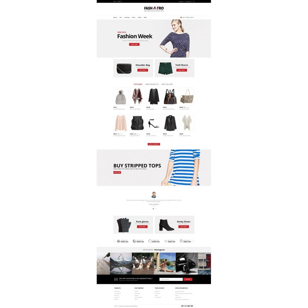 theme - Мода и обувь - Fashtro - Online Fashion Store - 2