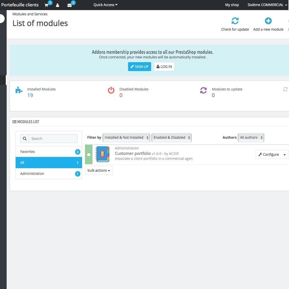 module - Gestión de clientes - Customer portfolio - 1