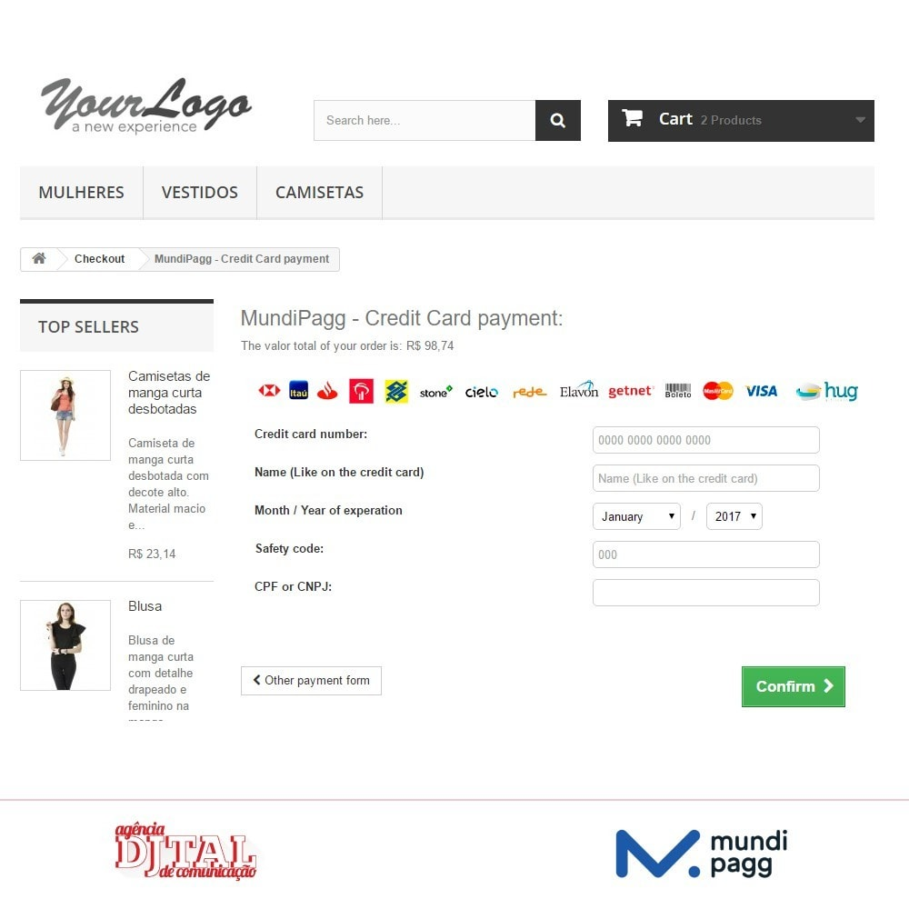 module - Payment by Card or Wallet - Mundipagg - 5