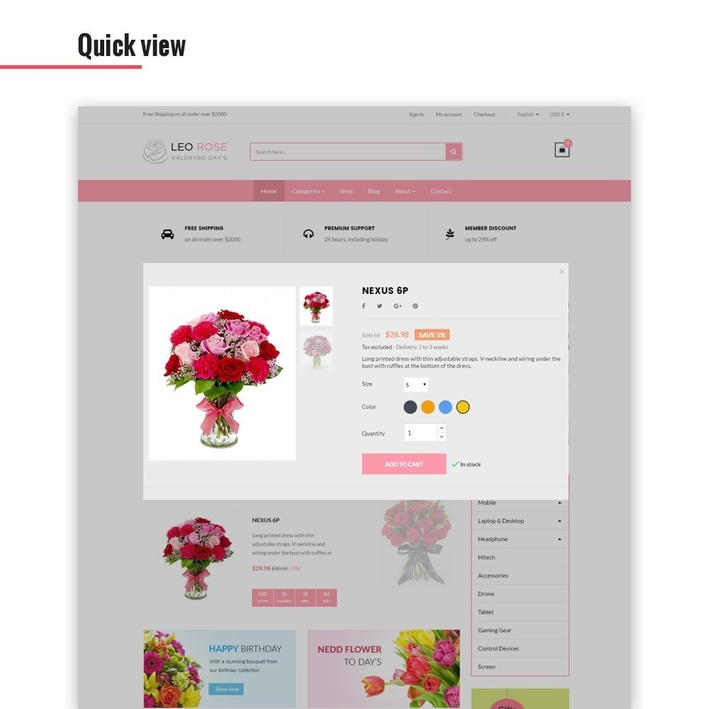 theme - Gifts, Flowers & Celebrations - Leo Rose - 5