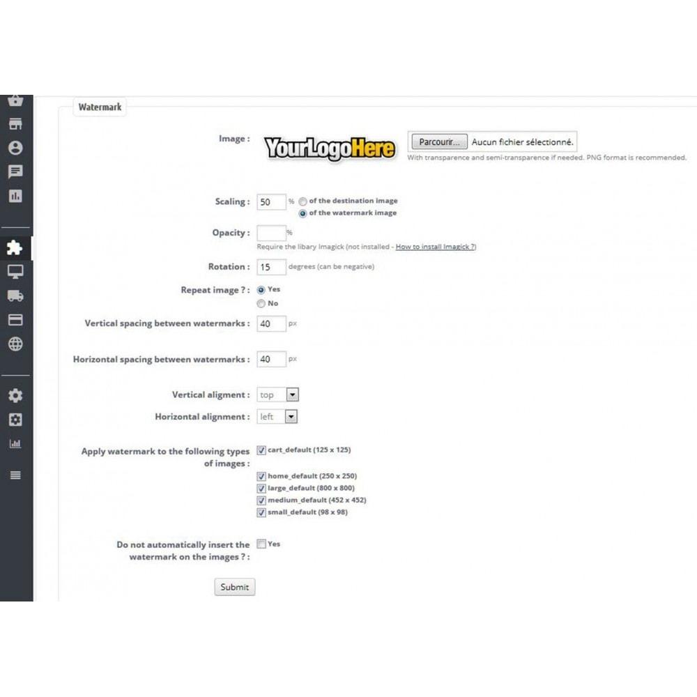 module - Seguridad y Accesos - Watermark / brand on images - 1