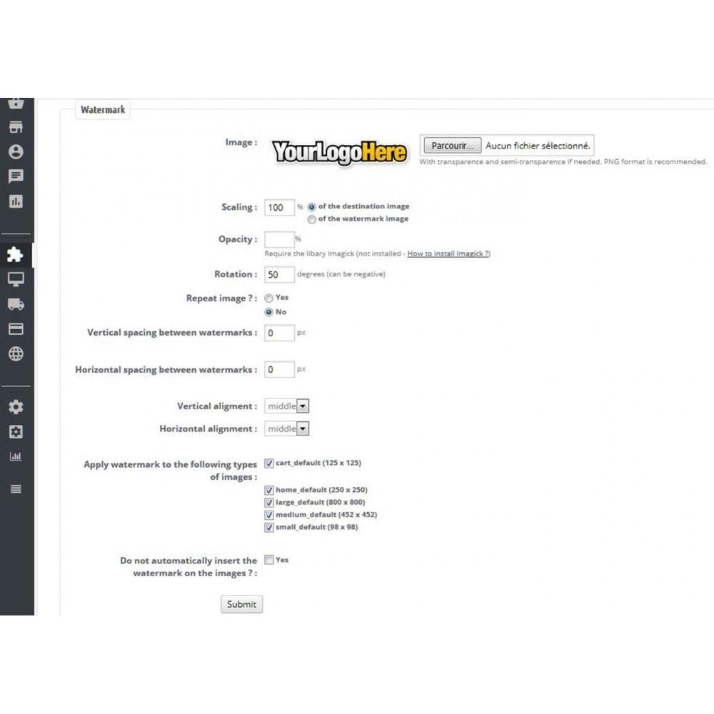 module - Seguridad y Accesos - Watermark / brand on images - 3