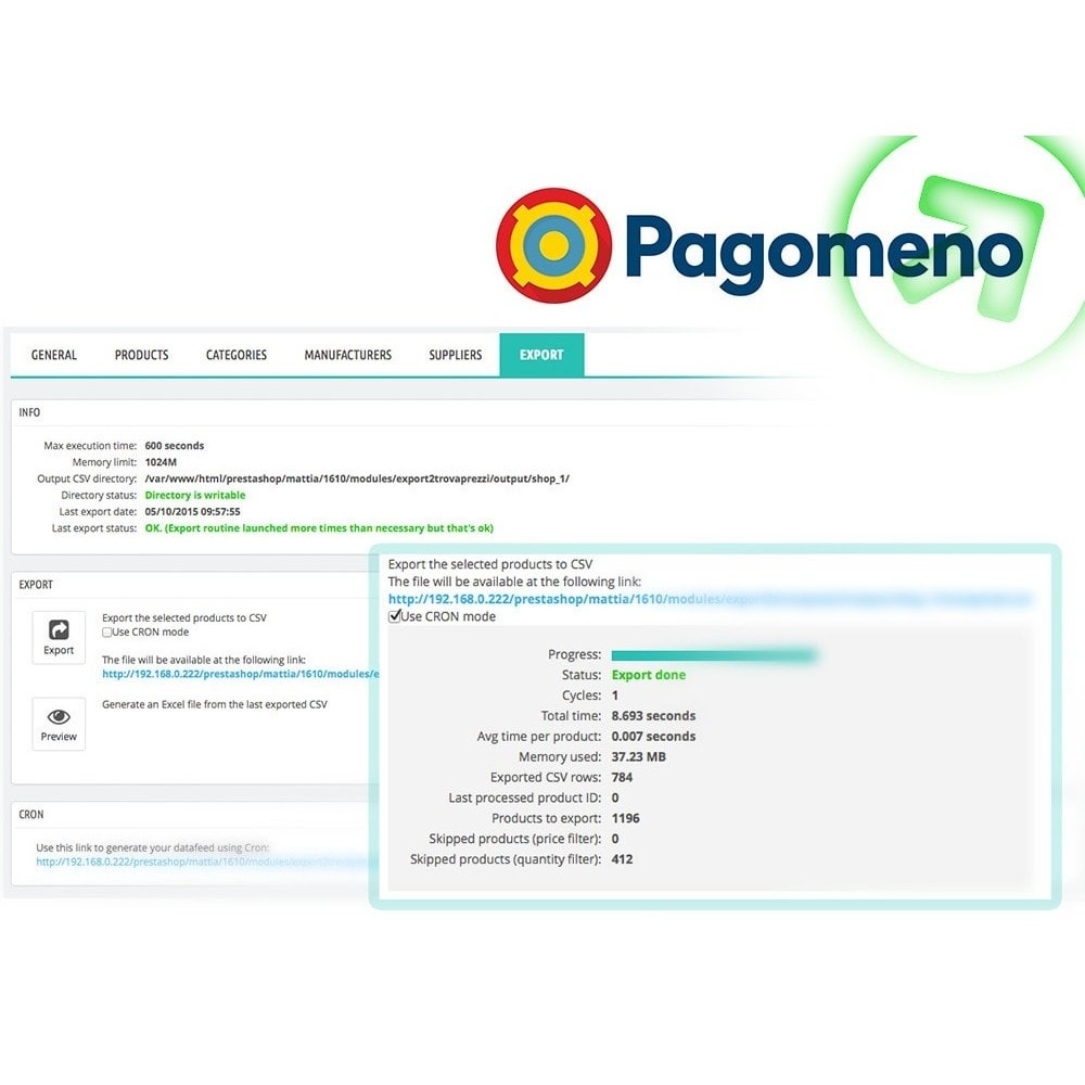 module - Comparatori di prezzi - Esporta Prodotti per Pagomeno con filtri avanzati - 6