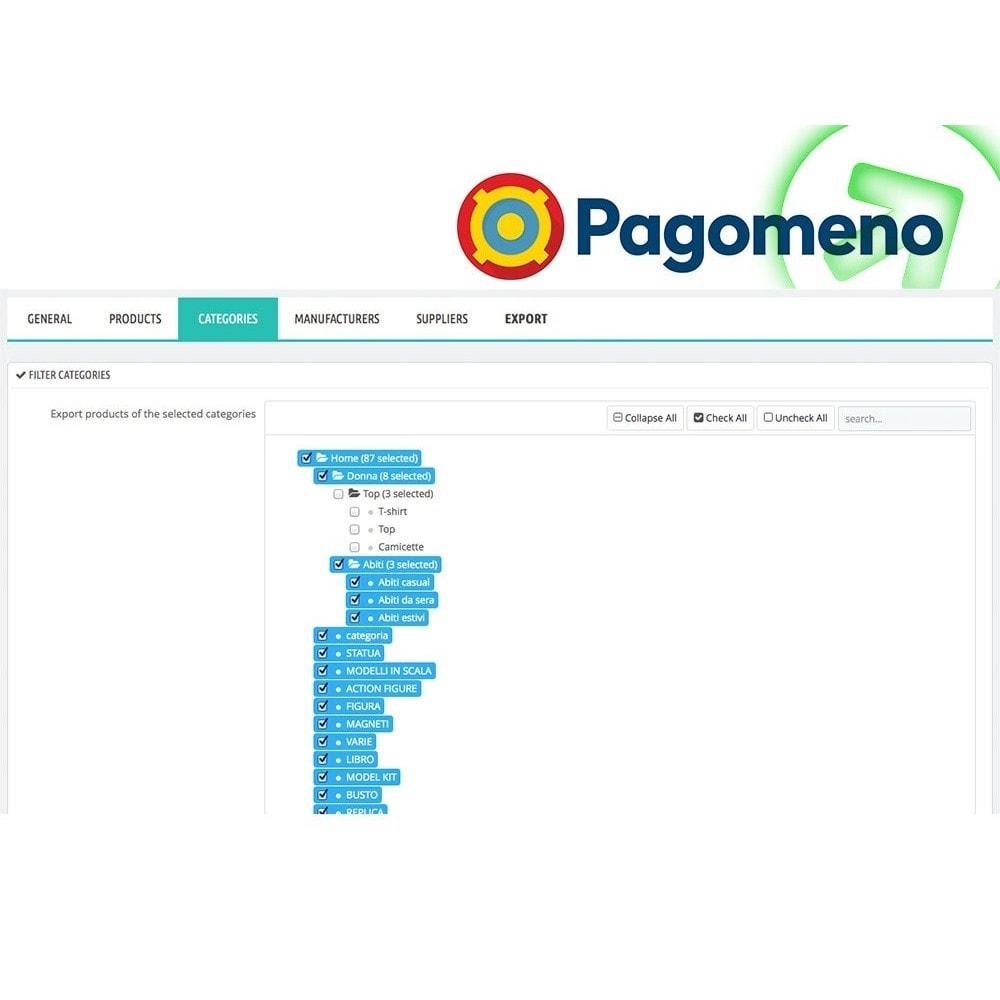 module - Prijsvergelijkers - Export to Pagomeno - 3