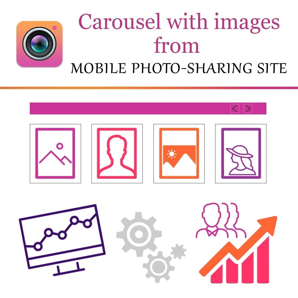 module - Slidery & Galerie - Inst Carousel with Images from photo-sharing site - 1