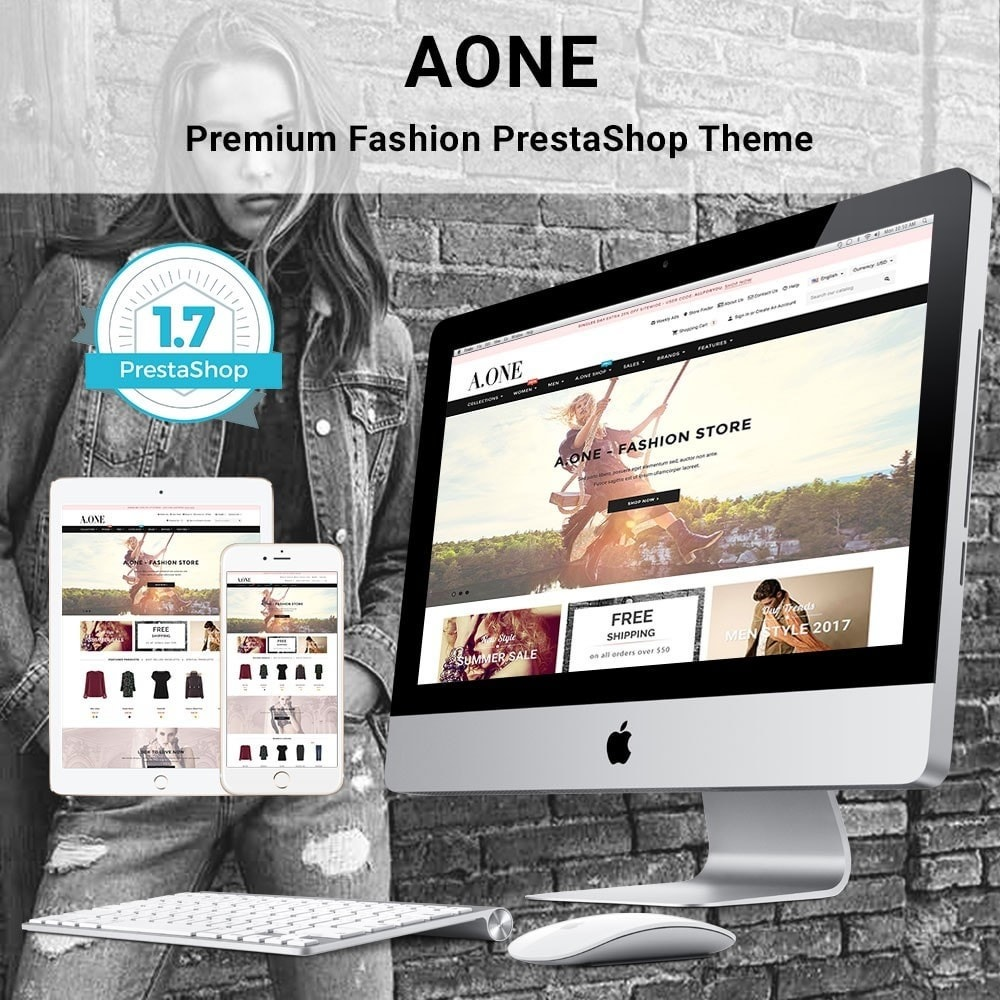 theme - Fashion & Shoes - AOne - Fashion Store - 1