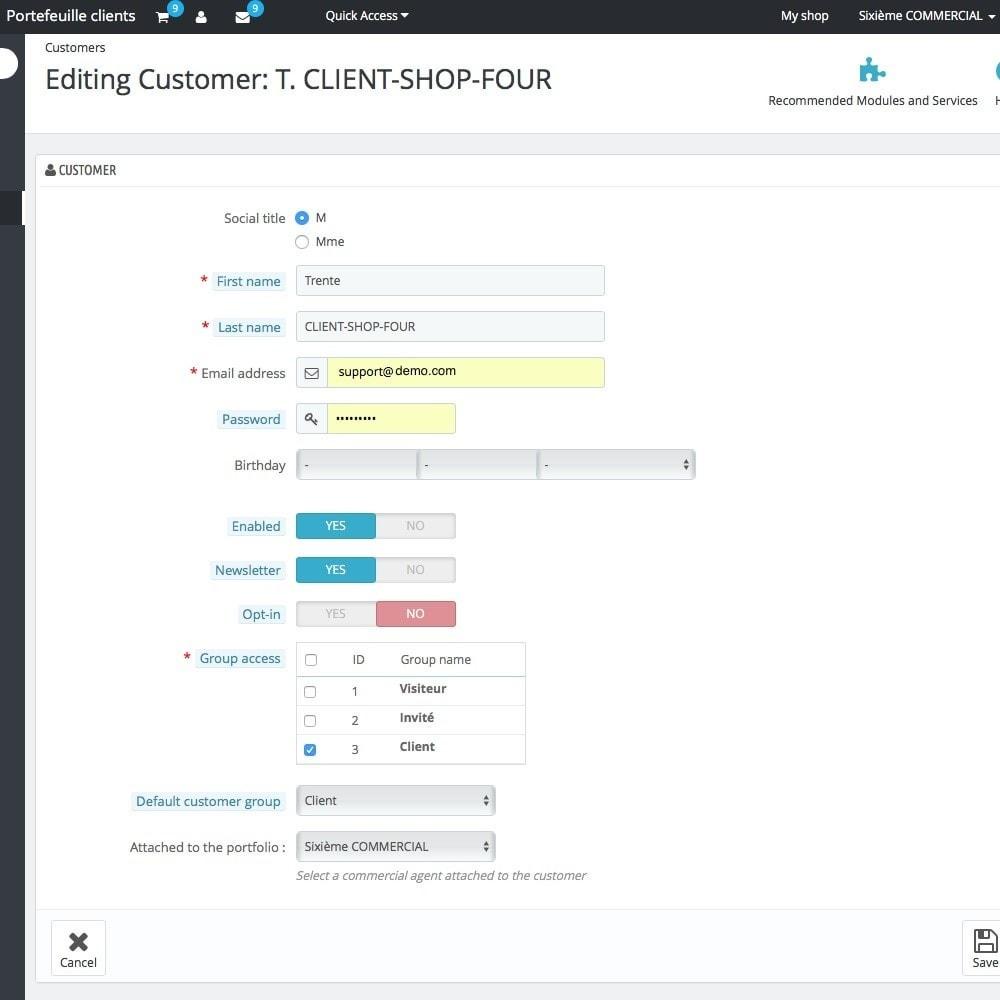 module - Gestión de clientes - Customer portfolio - 4