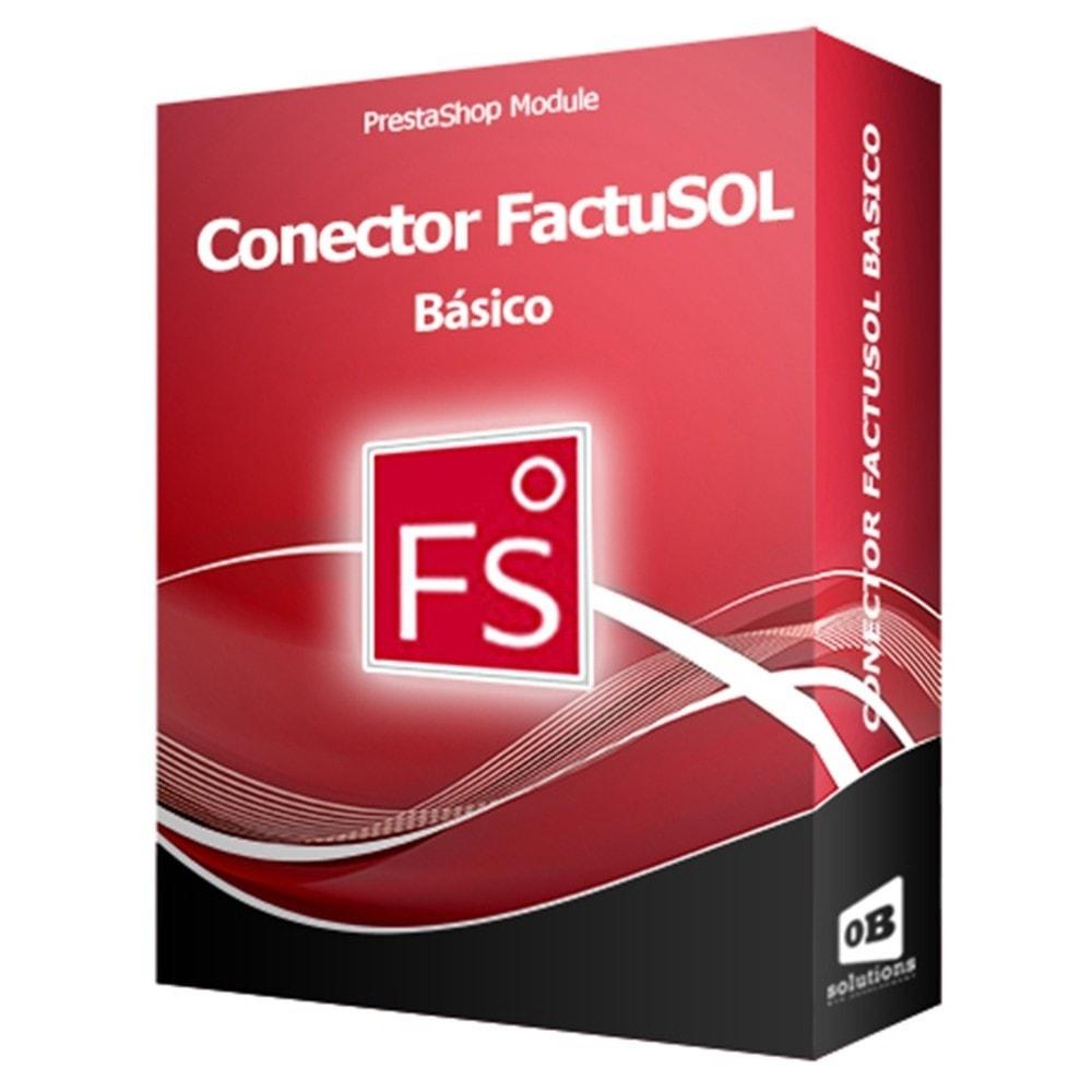 module - Third-party Data Integration (CRM, ERP...) - Basic FactuSOL Connector - 1