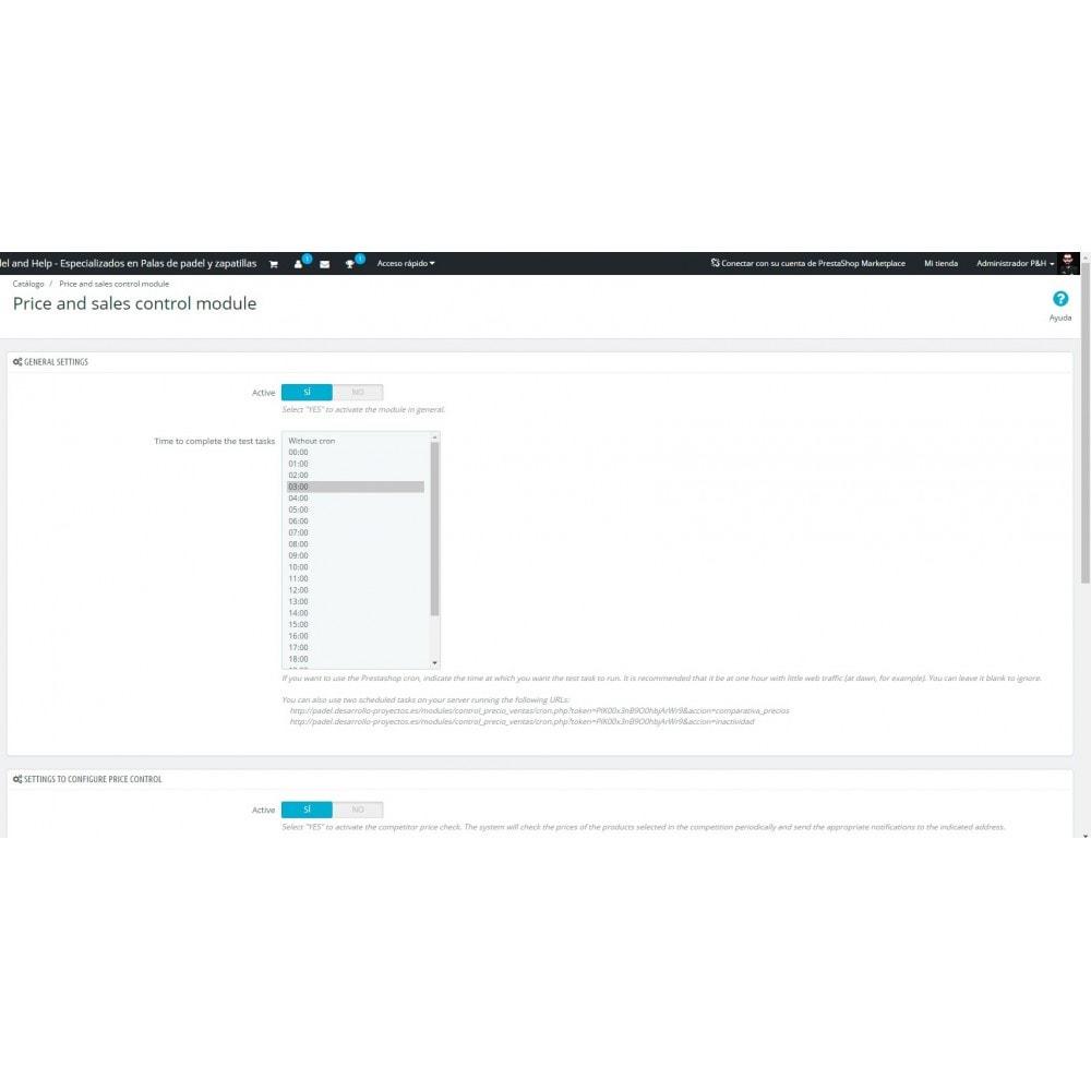 module - Informes y Estadísticas - Control de precios y ventas - 2