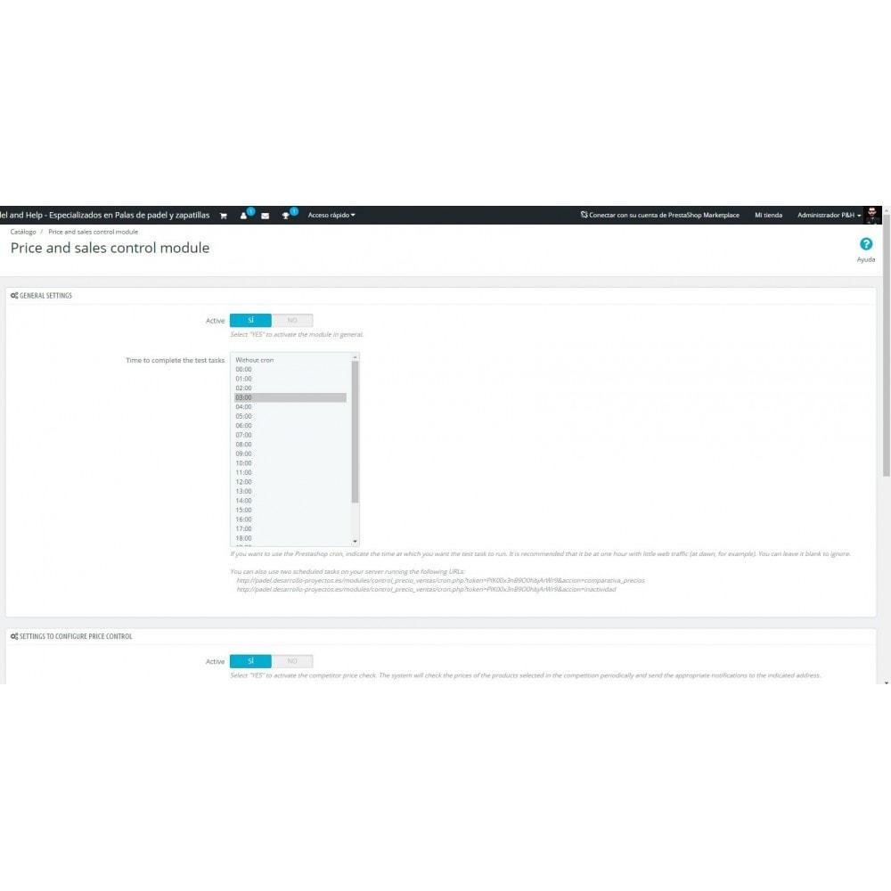 module - Informes y Estadísticas - Control de precios y ventas - 3