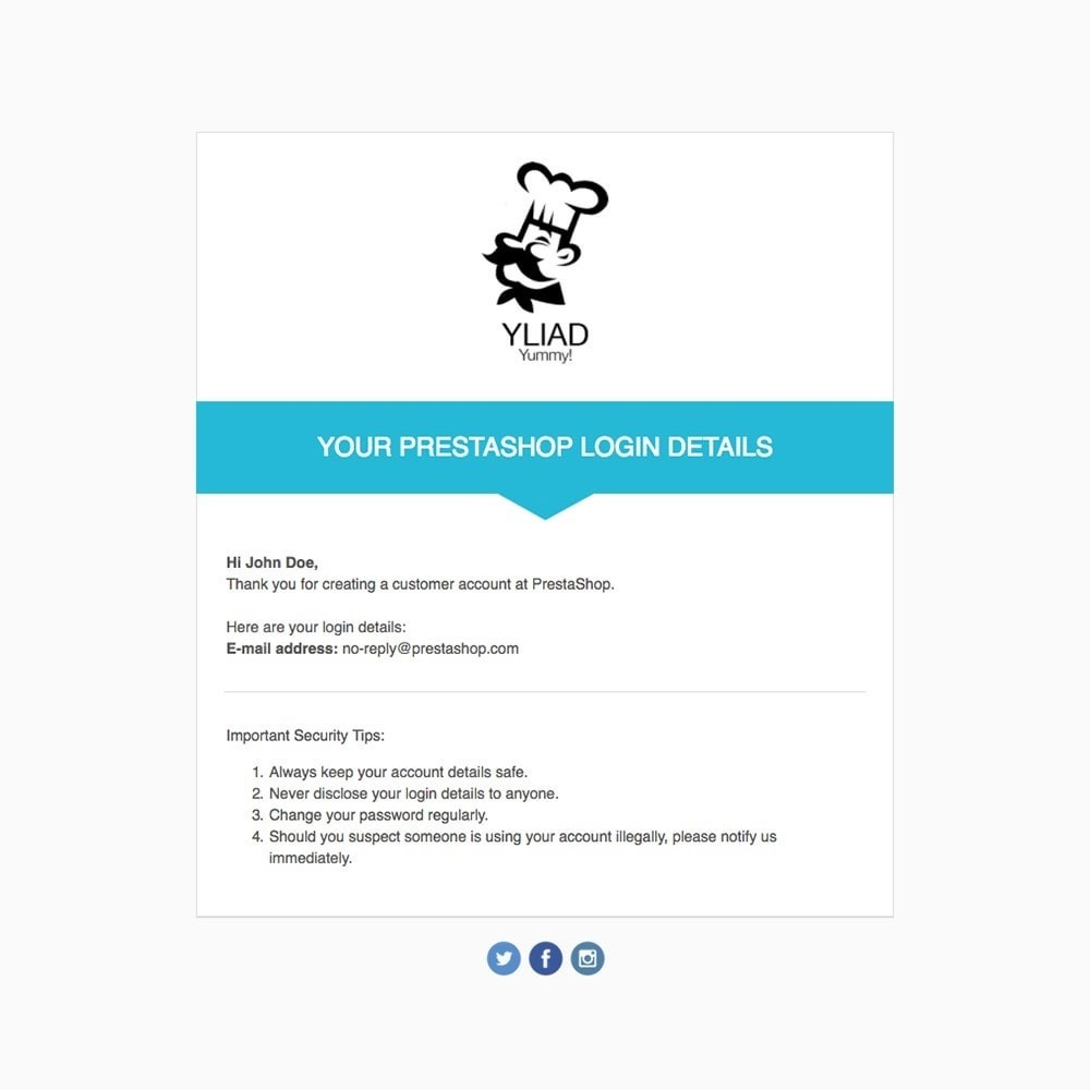 email - Templates d'e-mails PrestaShop - Yliad - Template d'emails - 3