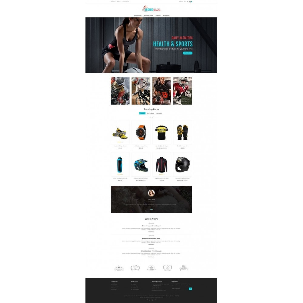 theme - Deportes, Actividades y Viajes - Iconic Sports Store - 2