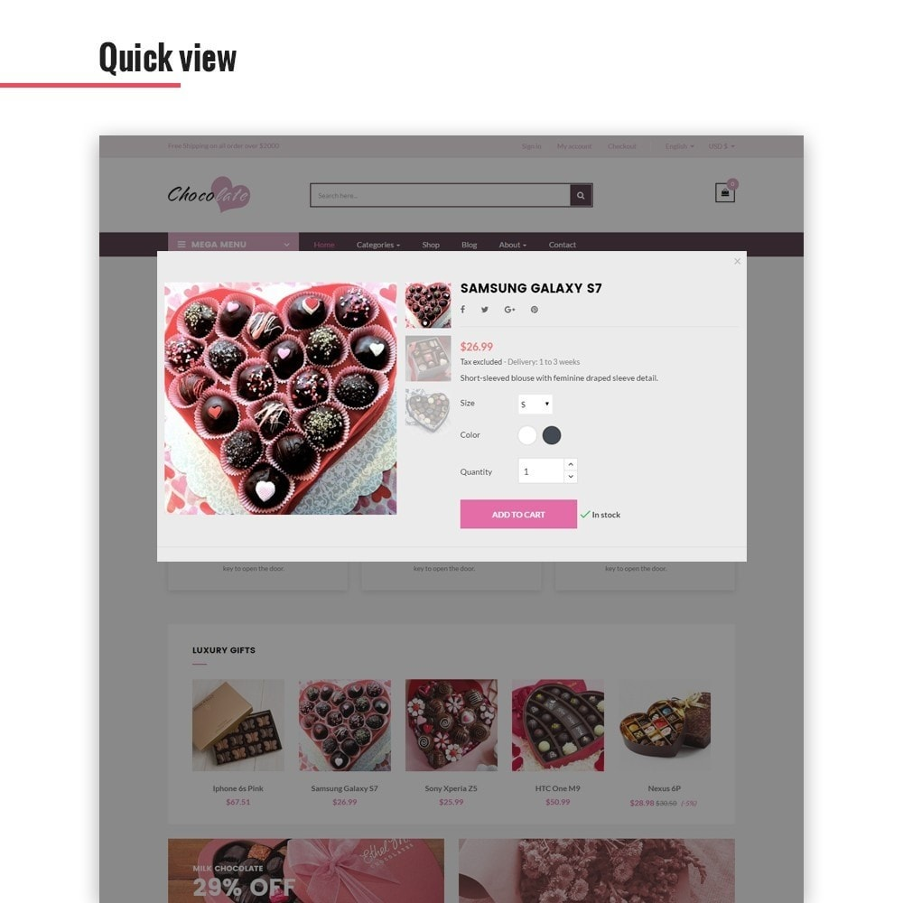 theme - Cadeaux, Fleurs et Fêtes - Ap Chocolate - 5