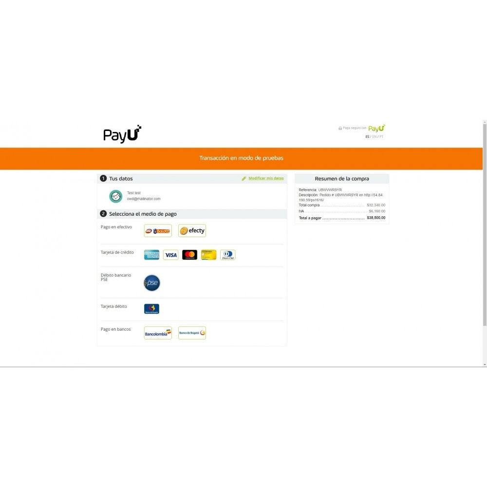 module - Pago con Tarjeta o Carteras digitales - PayU Latam Plus - 6