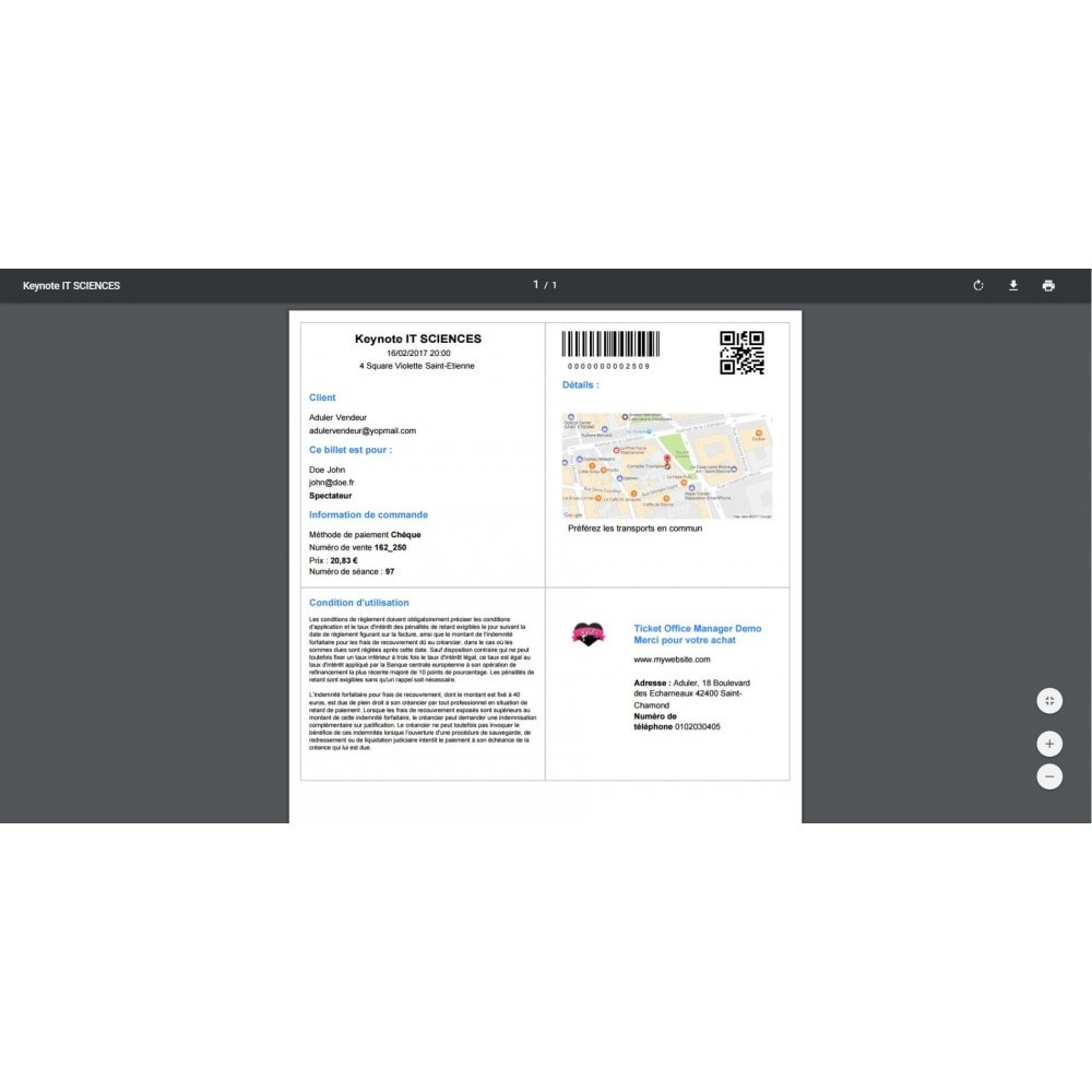 module - Location & Réservation - Billetterie - 4
