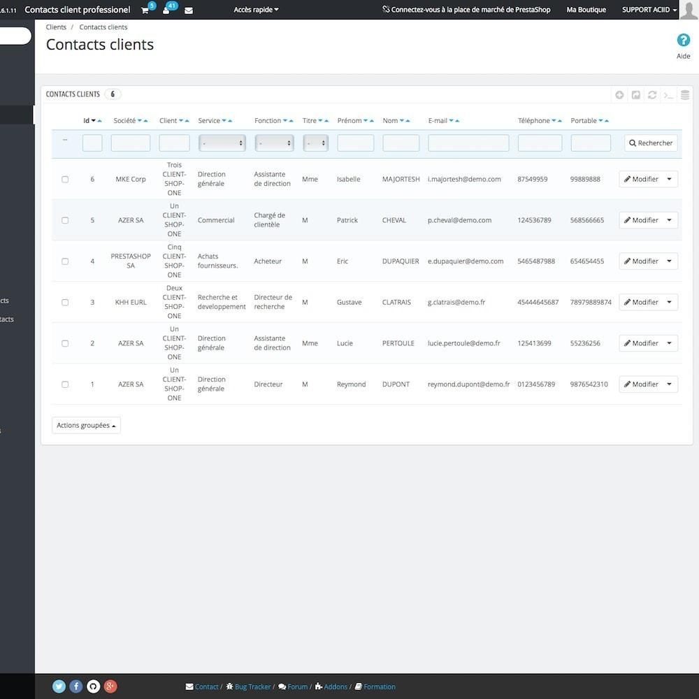 module - B2B - Contacts client professionnel - 4