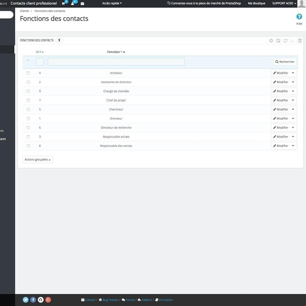 module - B2B - Contacts client professionnel - 12