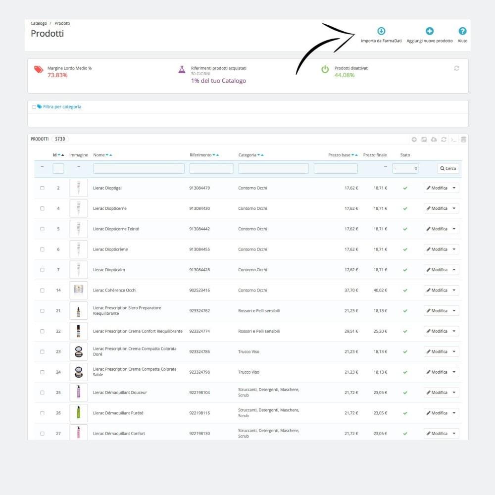 module - Daten Im-&Export - Farmadati product import - 1