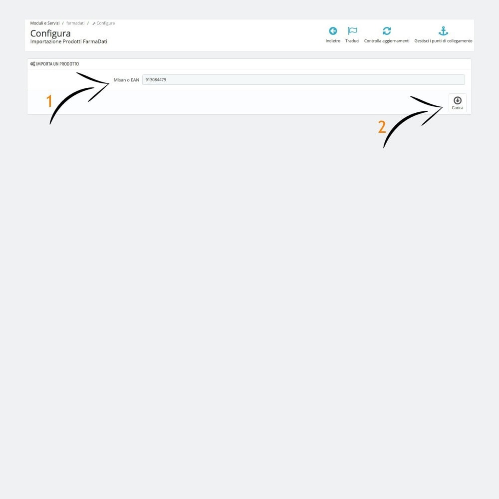 module - Data Import & Export - Farmadati product import - 2