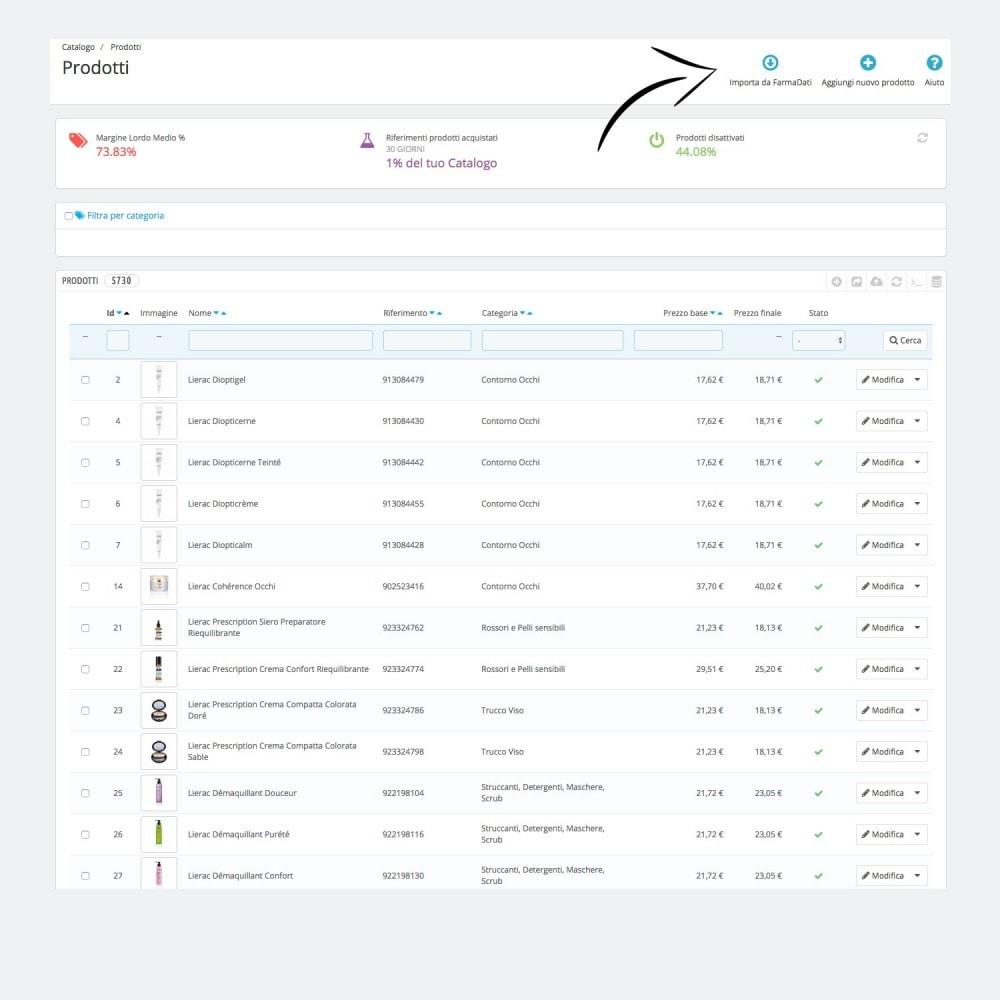 module - Data Import & Export - Importazione FarmaDati - Prodotto singolo - 1