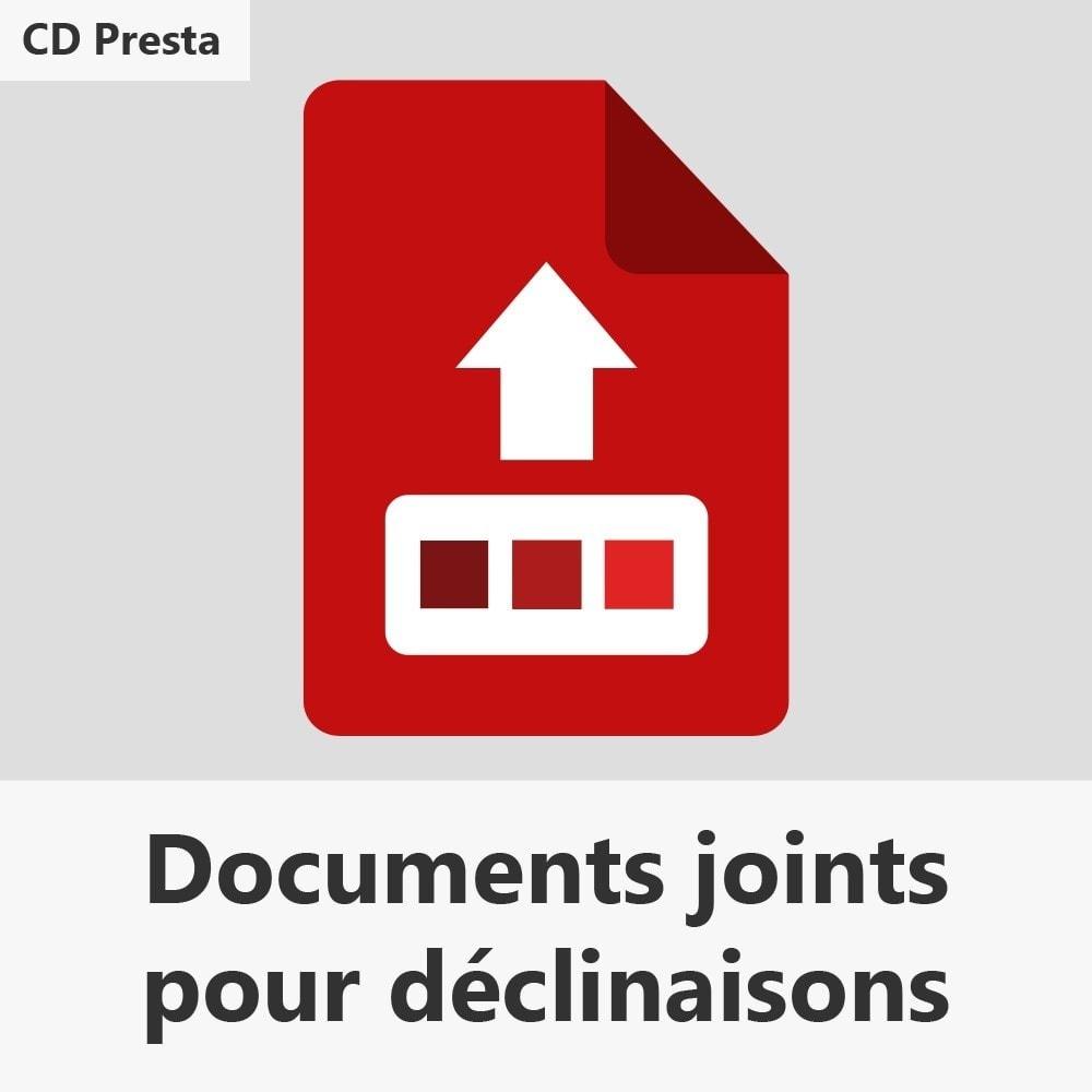 module - Déclinaisons & Personnalisation de produits - Documents joints pour déclinaisons - 1