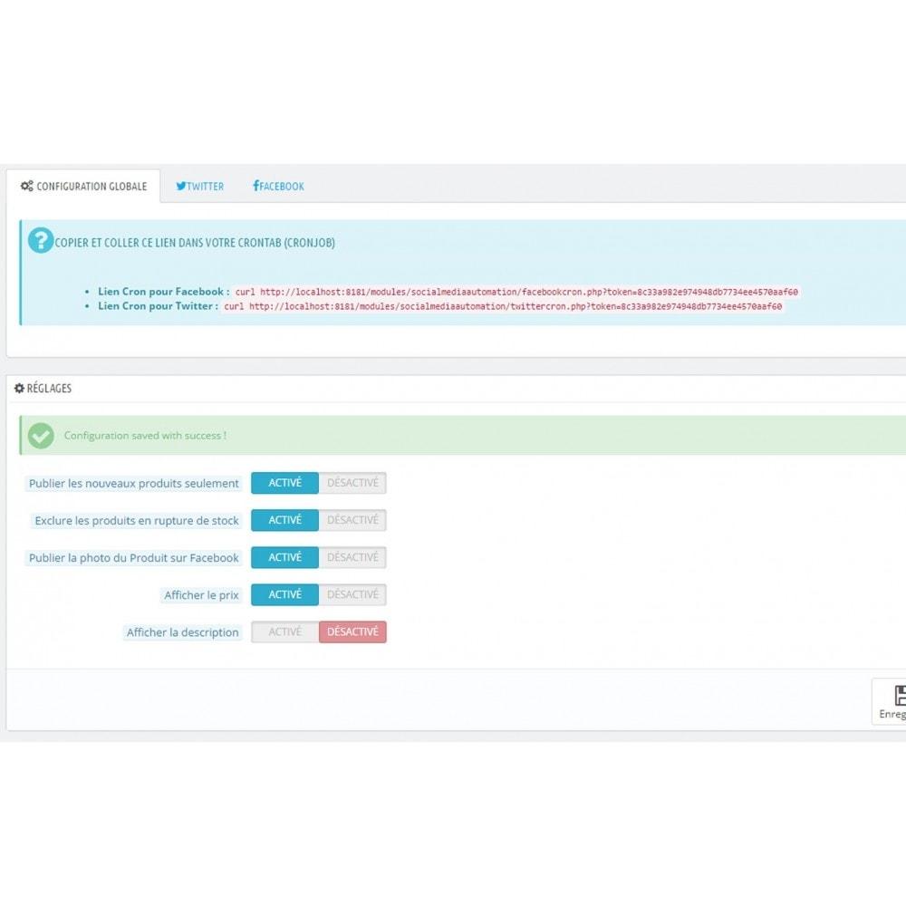 module - Produits sur Facebook & réseaux sociaux - Social Media Automation - Auto Post Products - 8