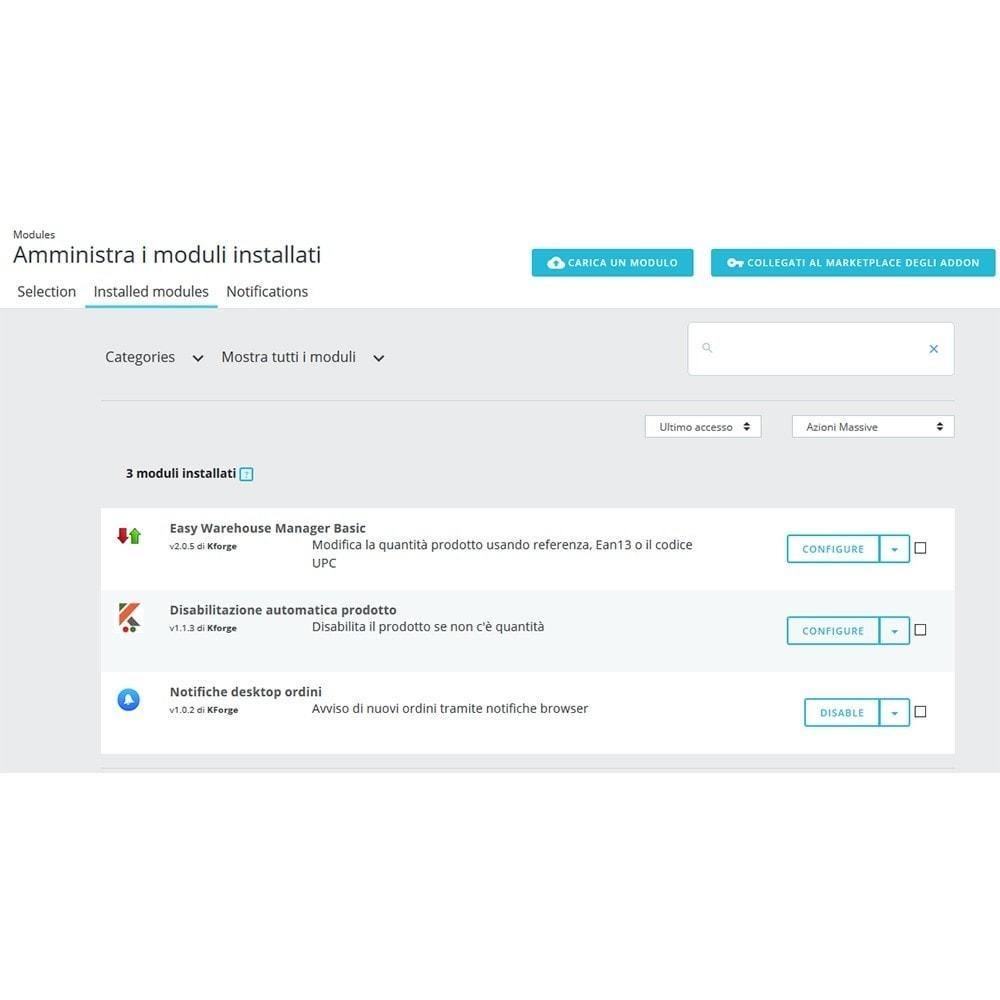 module - Gestione Scorte & Fornitori - Disattivazione automatica prodotto esaurito - 3