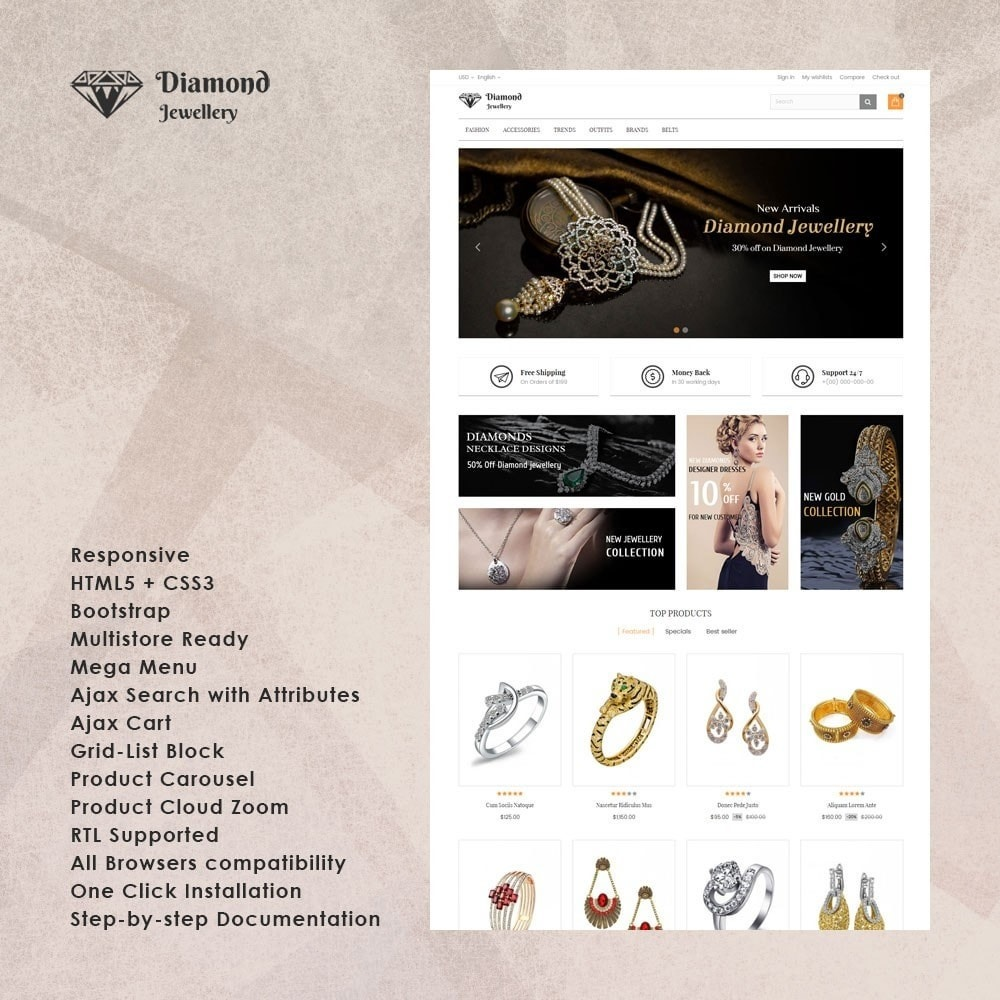 theme - Bellezza & Gioielli - Diamond Jewellery Store - 1