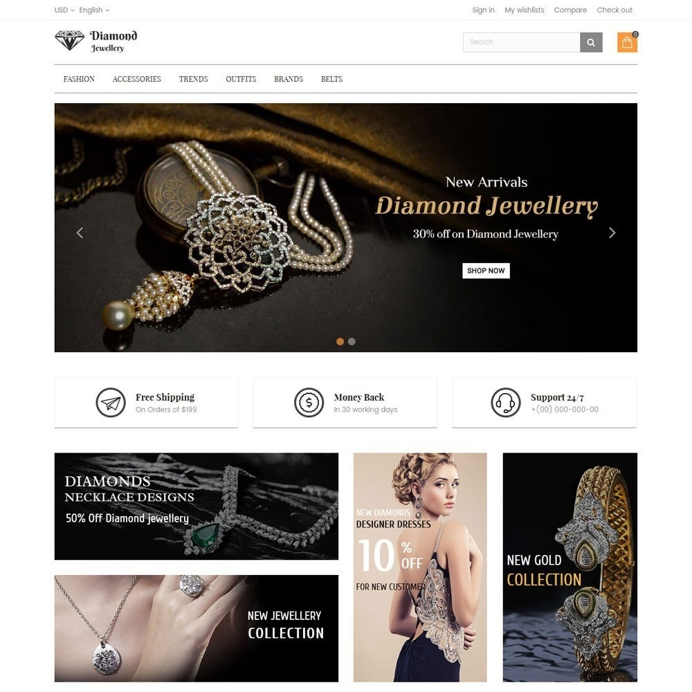 theme - Bellezza & Gioielli - Diamond Jewellery Store - 2