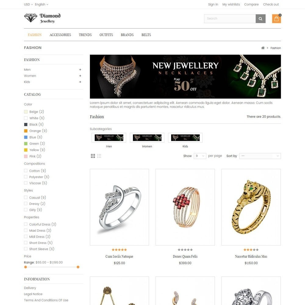 theme - Bellezza & Gioielli - Diamond Jewellery Store - 3