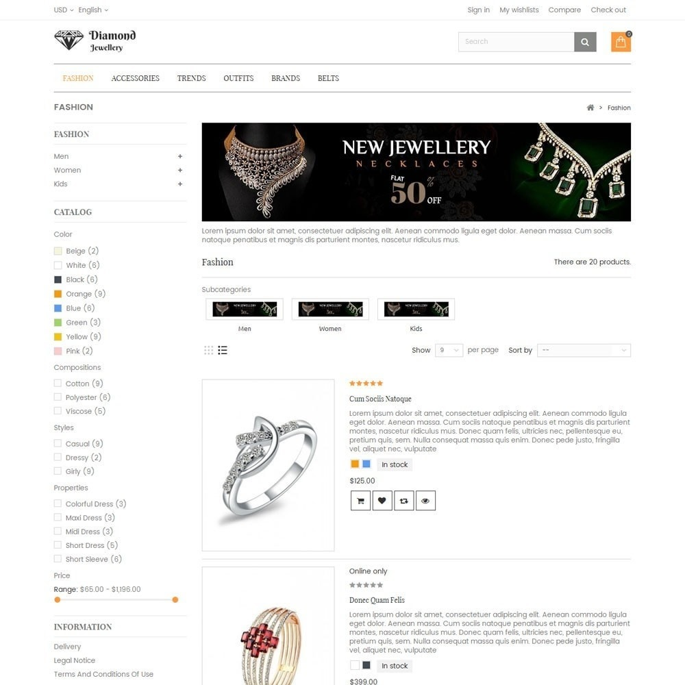 theme - Bellezza & Gioielli - Diamond Jewellery Store - 4