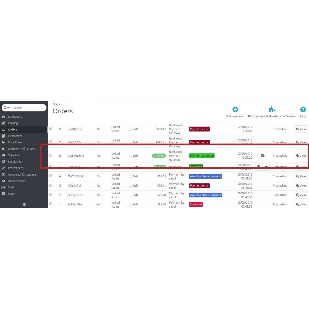 module - Pagamento por cartão ou por carteira - Bank Audi Payment Gateway - 7